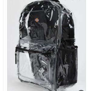 Dickies Black Clear Backpack